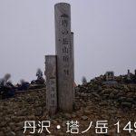 丹沢・塔ノ岳(1491m)に登った